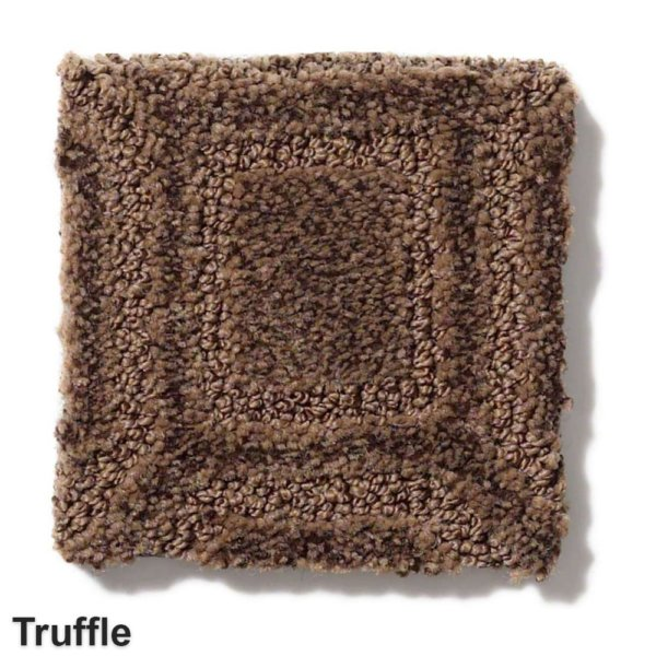 Genoa Pattern Area Rug Collection Truffle