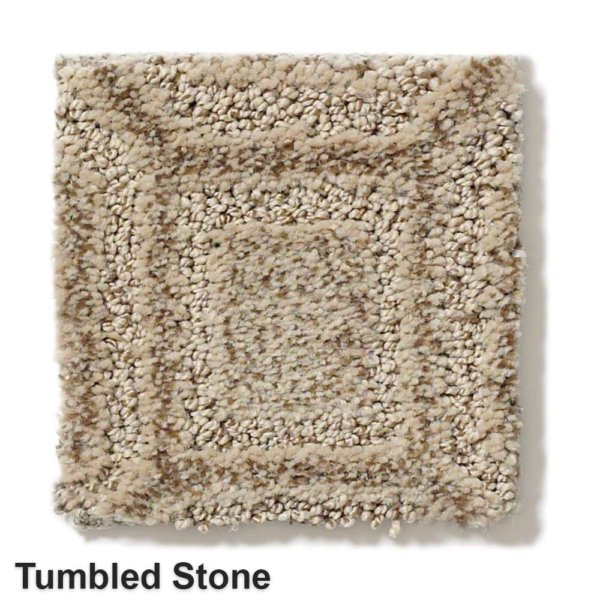 Genoa Pattern Area Rug Collection Tumbled Stone
