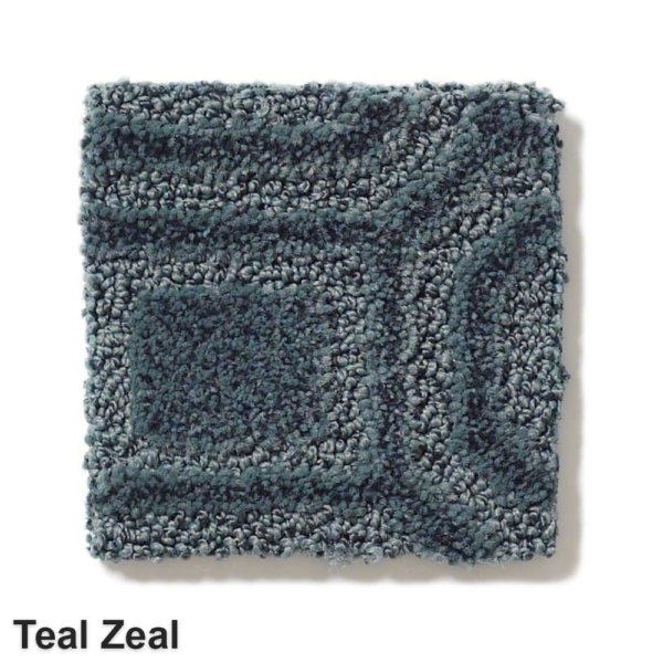 Genoa Pattern Area Rug Collection Teal Zeal