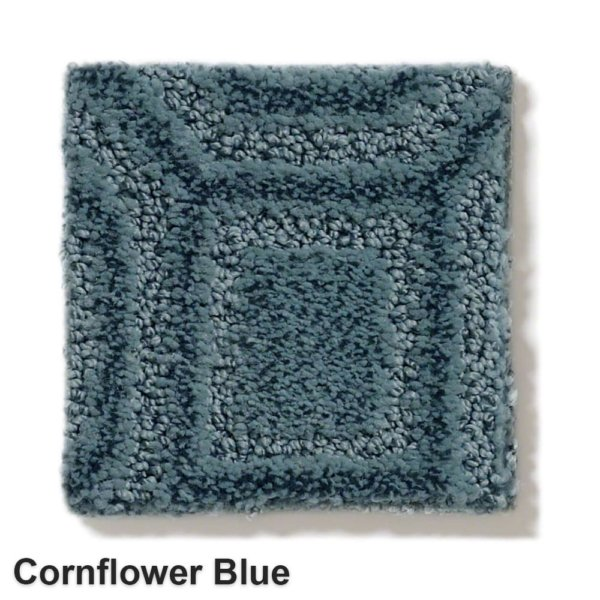 Genoa Pattern Area Rug Collection Cornflower Blue