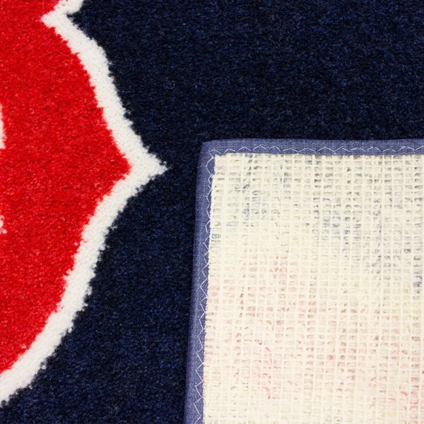 Boston Red Sox MLB Area Rug Carpet back