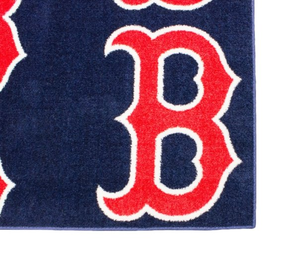 Boston Red Sox MLB Area Rug Carpet Corner
