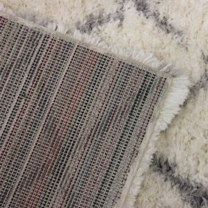 Moroccan Ultra Soft Area Rug Shagtacular Collection Back