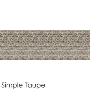 Peel and Stick Carpet Tile Planks Simple Taupe