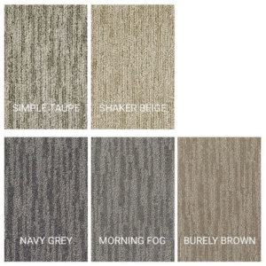 Peel and Stick Carpet Tile Planks - 5 Colors Available