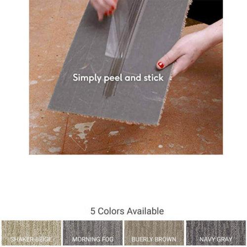 Peel and Stick Carpet Tile Planks