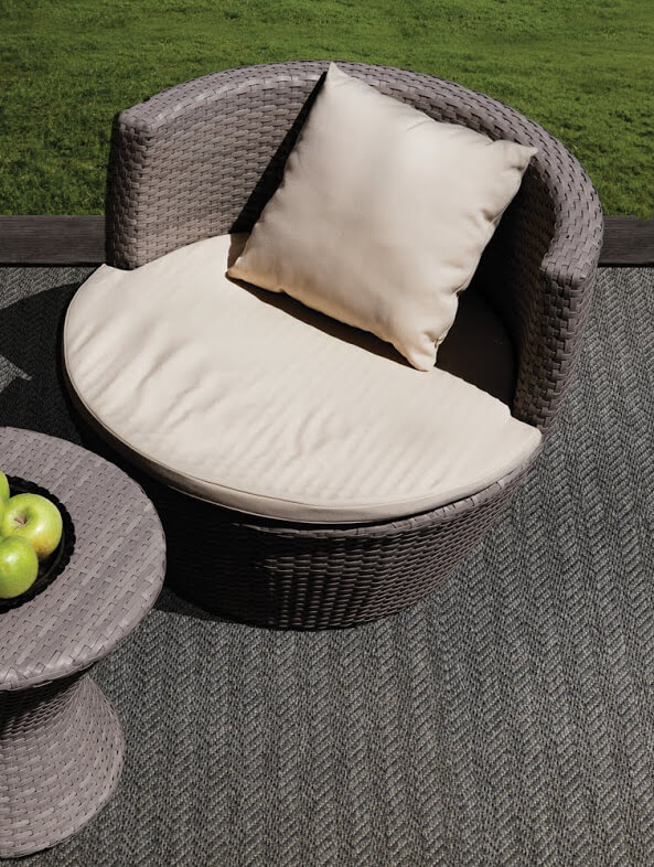 Luxurious Tunisia Chevron Pattern Indoor/Outdoor Wear Ever Collection Bizerte Room