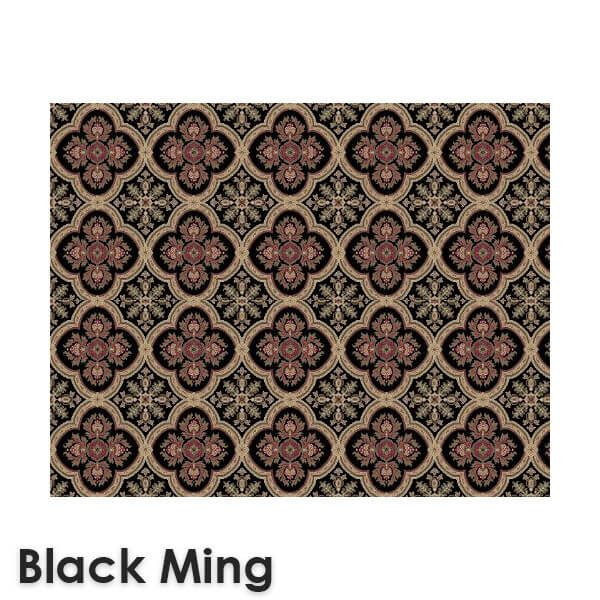 Dynasty Traditional Woven Radiance Collection Black Ming