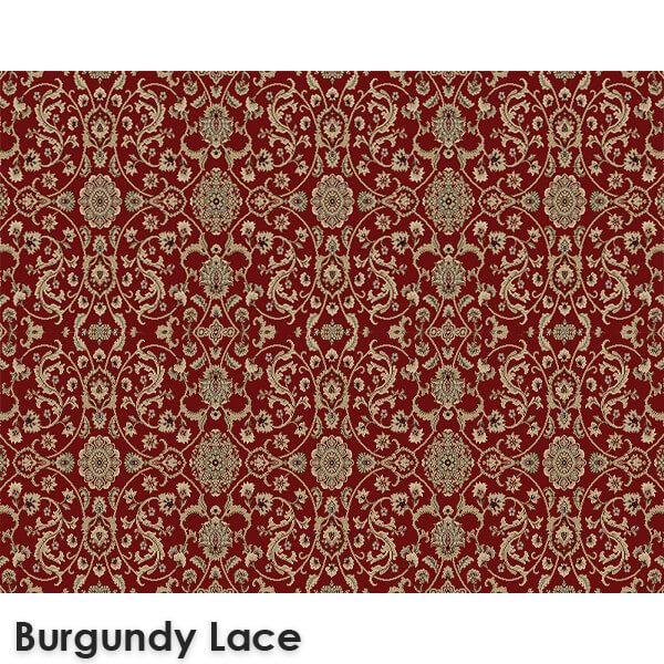 Regalia Traditional Woven Radiance Collection Burgundy Lace