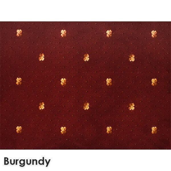 Lucerne Dot Woven Classics Collection Burgundy