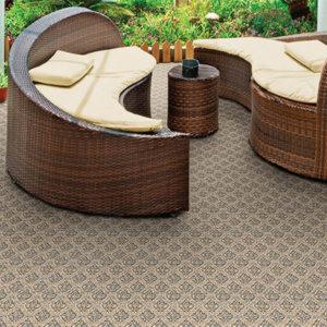 Marina Cay Custom Cut Indoor Outdoor Rug Collection Room Scene