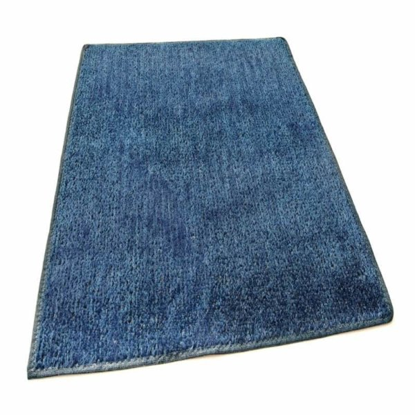 Dark Blue Indoor-Outdoor Artificial Grass Turf Area Rug Carpet