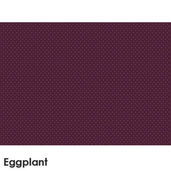 Pin Dot Woven Classics Collection Eggplant