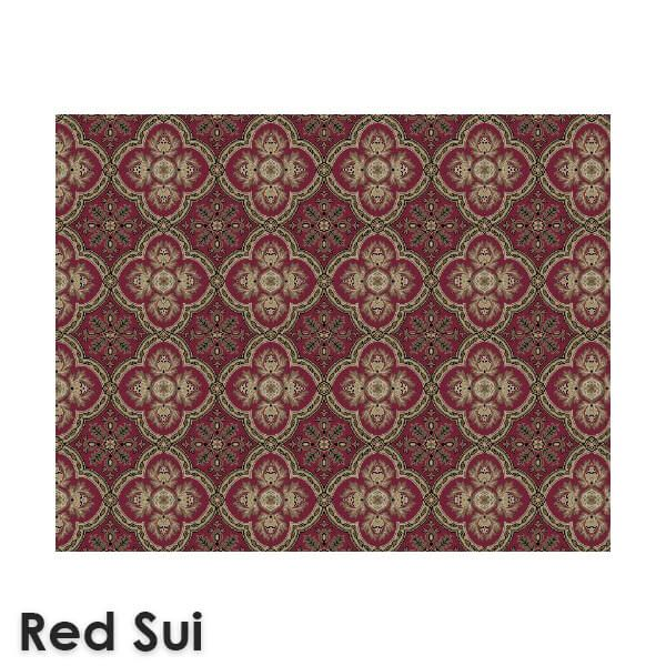 Dynasty Traditional Woven Radiance Collection Red Sui