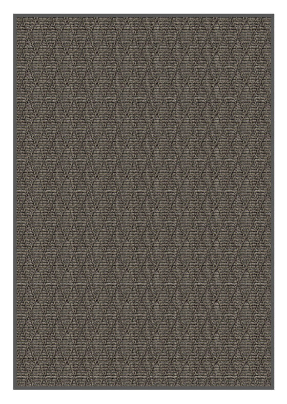 Luxurious Kasbah Diamond Pattern Indoor/Outdoor Wear Ever Collection Shale Rectangle