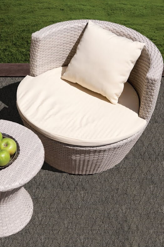 Luxurious Kasbah Diamond Pattern Indoor/Outdoor Wear Ever Collection Shale Room