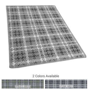 Castle Hill Custom Cut Indoor Outdoor Plaid Area Rug Collection