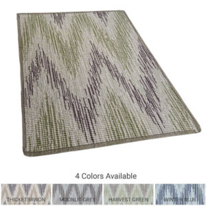 Stockbridge Custom Cut Indoor Outdoor Chevron Area Rug Collection