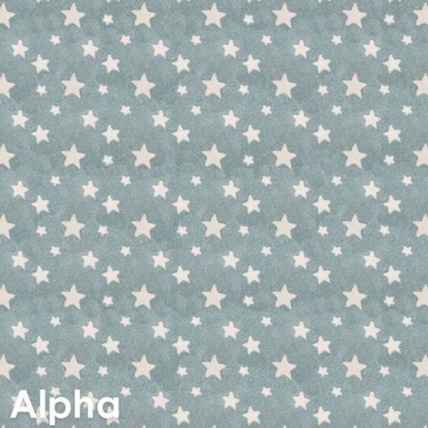 Kids Celebration Star Pattern Luxury Area Rug Festival Collection Alpha