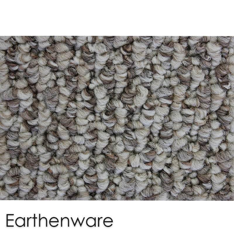 Starlight Level Berber Loop Indoor Area Rug Carpet Collection Earthenware