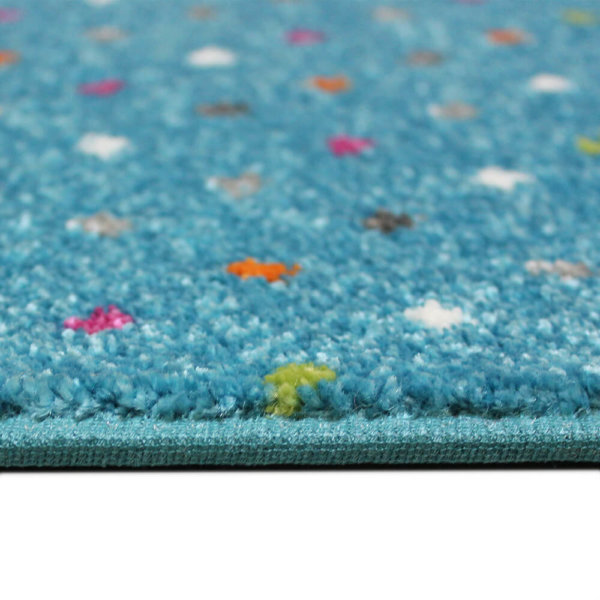 Joy Polka Dot Pattern Luxury Area Rug Festival Collection Gala Side