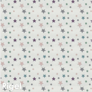 Kids Celebration Star Pattern Luxury Area Rug Festival Collection Rigel