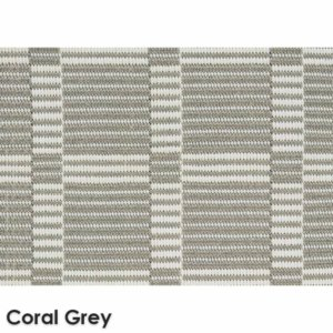 Roanoke Island Custom Cut Indoor Outdoor Plaid Pattern Woven Collection Coral Grey
