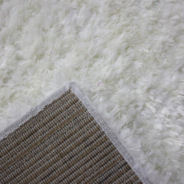 Glitzy Ultra Soft Area Rug Shagtacular Collection back
