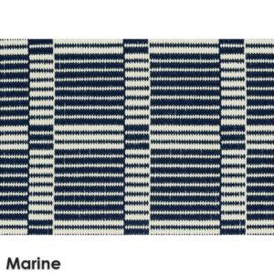 Roanoke Island Custom Cut Indoor Outdoor Plaid Pattern Woven Collection Marine