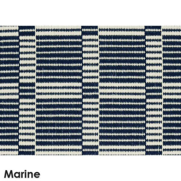 Roanoke Island Custom Cut Indoor Outdoor Plaid Pattern Woven Collection Marine