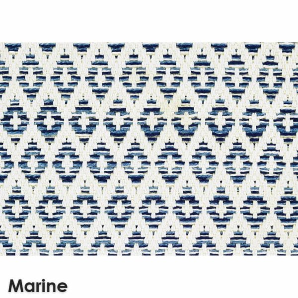 Sullivan's Island Custom Cut Indoor Outdoor Woven Collection Marine