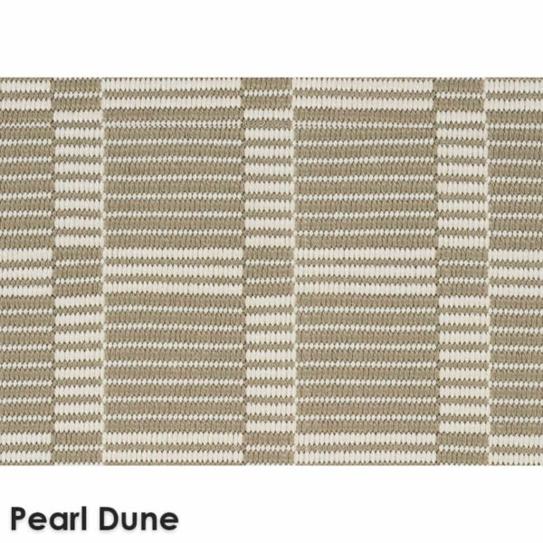 Roanoke Island Custom Cut Indoor Outdoor Plaid Pattern Woven Collection Pearl Dune