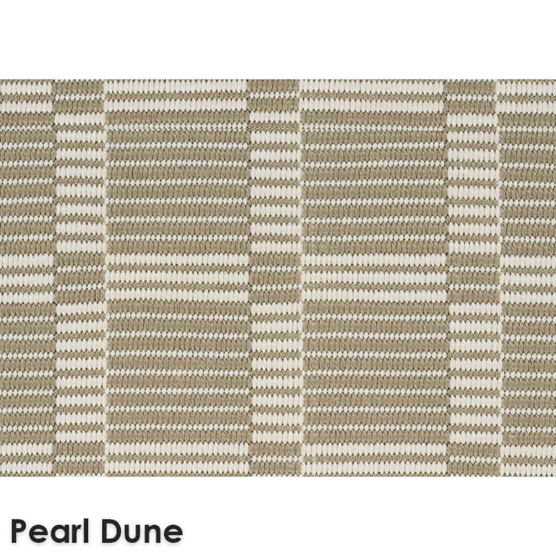 Roanoke Island Custom Cut Indoor Outdoor Plaid Pattern Woven Collection Pearl Dune