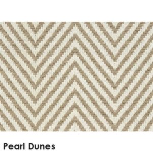Hatteras Island Custom Cut Indoor Outdoor Woven Chevron Collection Pearl Dune