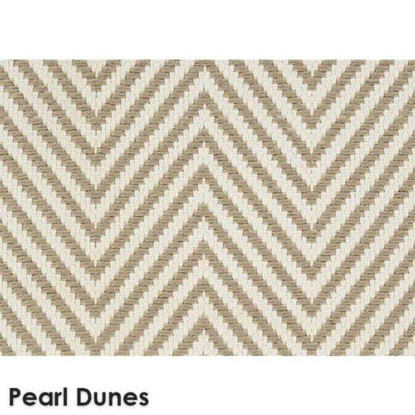 Hatteras Island Custom Cut Indoor Outdoor Woven Chevron Collection Pearl Dune