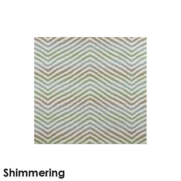 Biscayne Chevron Pattern Luxury Area Rug Festival Collection Shimmering