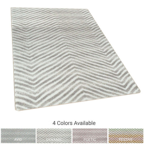 Biscayne Chevron Pattern Luxury Area Rug Festival Collection - 4 colors available