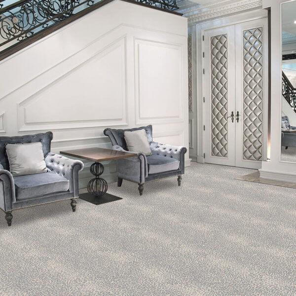 El Venado Animal Print Area Rug Upscale Luxury Collection - Room