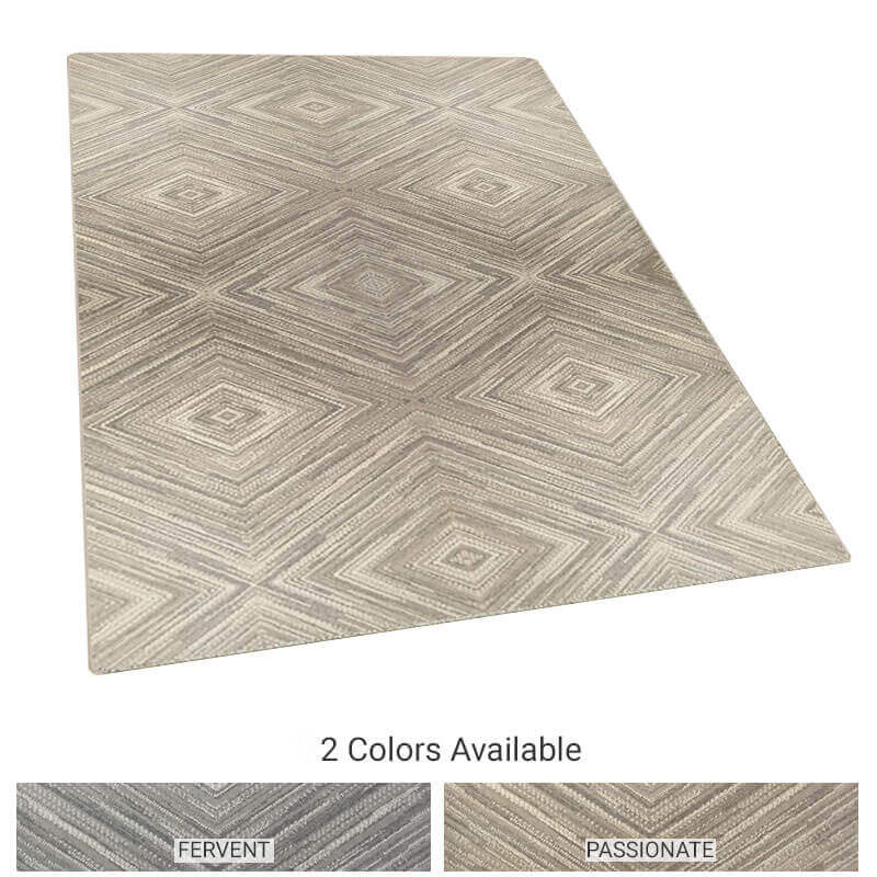 Exemplify Diamond Pattern Area Rug Upscale Luxury Collection