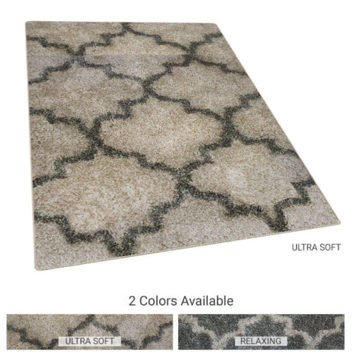 Fabulous Ultra Soft Moroccan Lantern Pattern Area Rug Shagtacular Collection