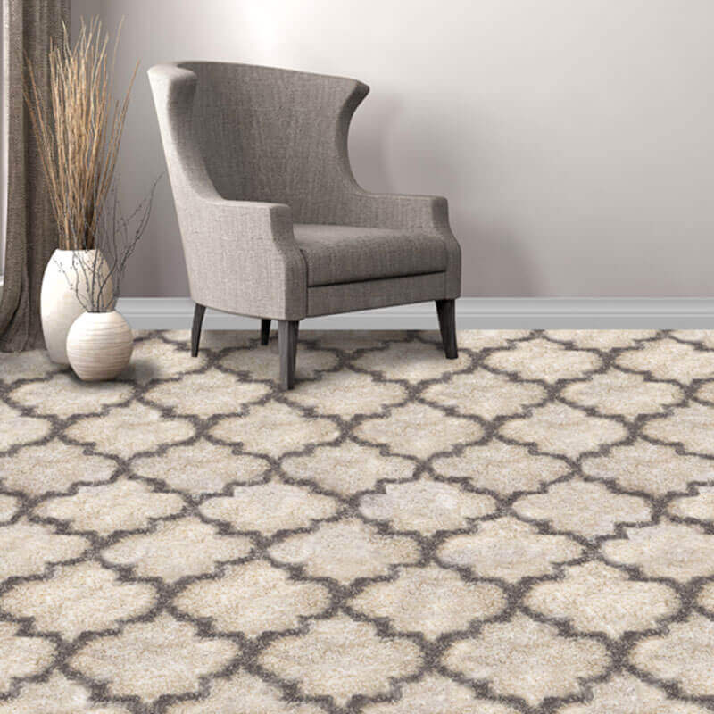 Fabulous Ultra Soft Moroccan Lantern Pattern Area Rug Shagtacular Collection - Room