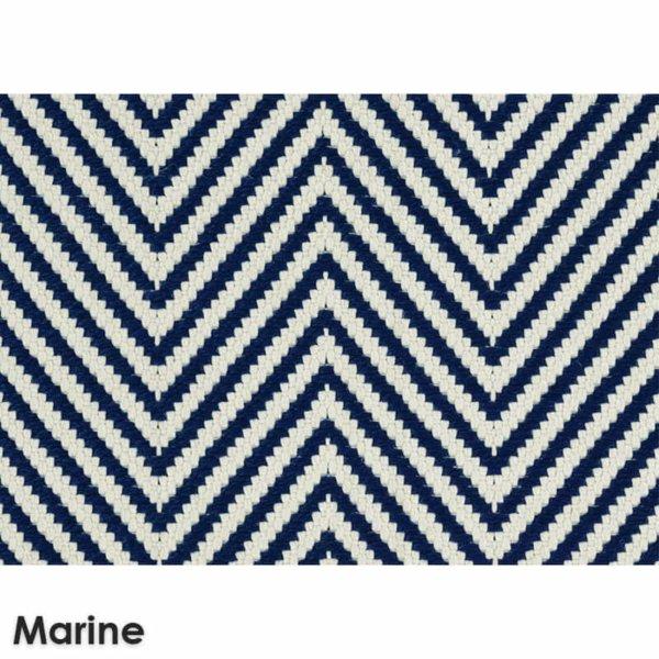 Hatteras Island Custom Cut Indoor Outdoor Woven Chevron Collection Marine