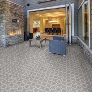 Roanoke Island Custom Cut Indoor Outdoor Plaid Pattern Woven Collection - Room
