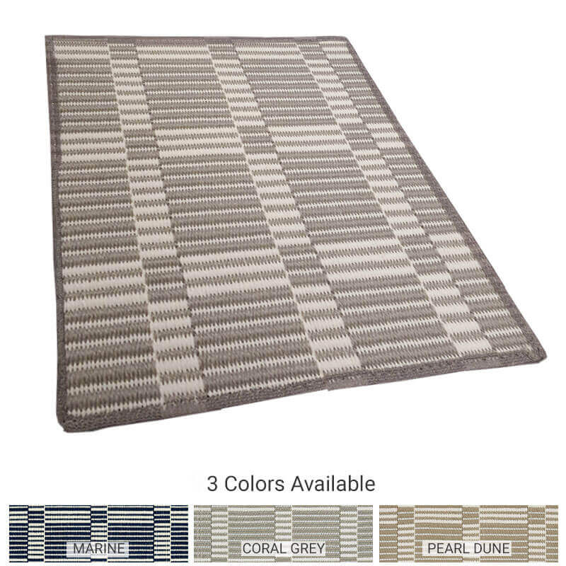 Roanoke Island Custom Cut Indoor Outdoor Plaid Pattern Woven Collection