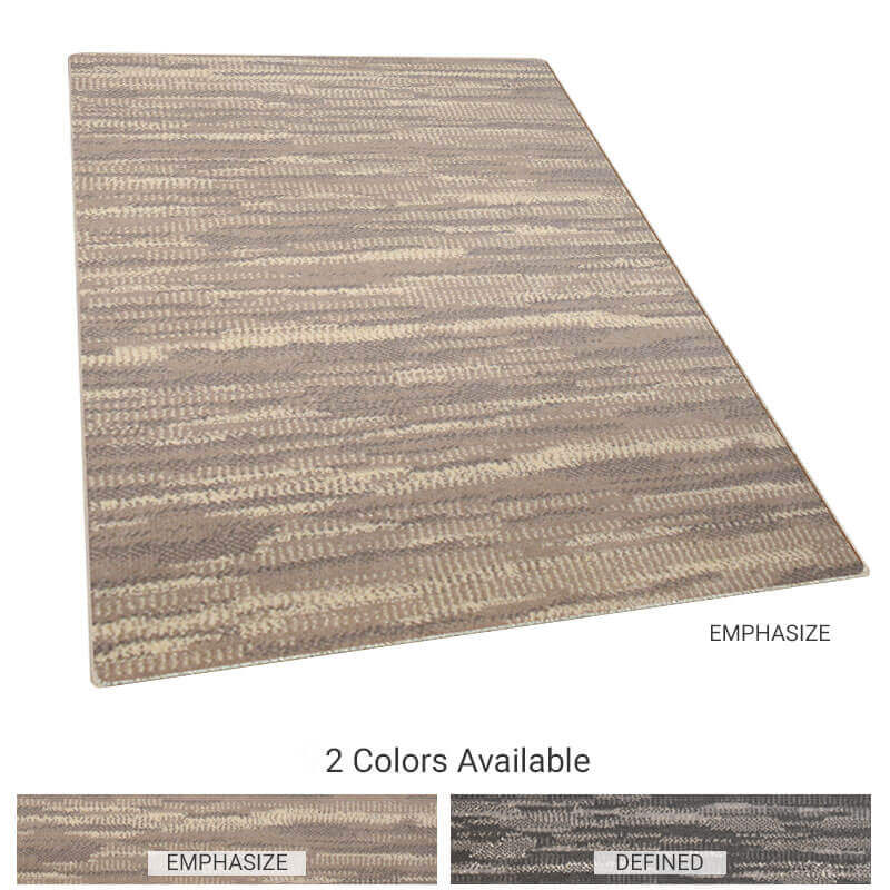 Unparalelled Lineal Pattern Area Rug Upscale Luxury Collection
