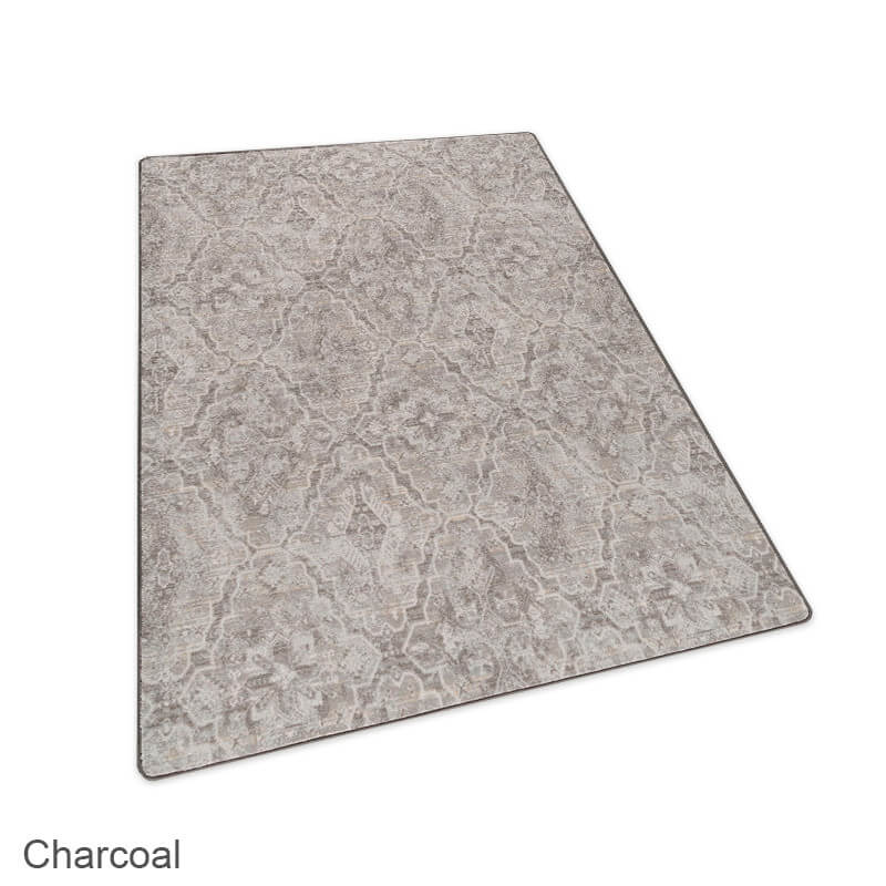 Milliken Artful Legacy Pattern Indoor Area Rug Collection Charcoal