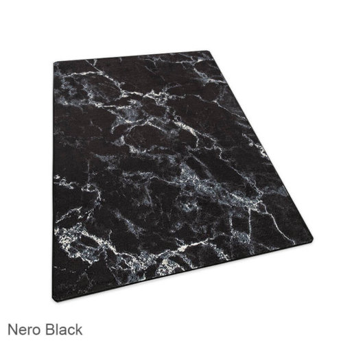 Milliken Basis Lineal Pattern Indoor Area Rug Collection Nero