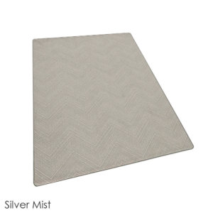 Milliken Dreamroom Chevron Pattern Indoor Area Rug Collection Silver Mist