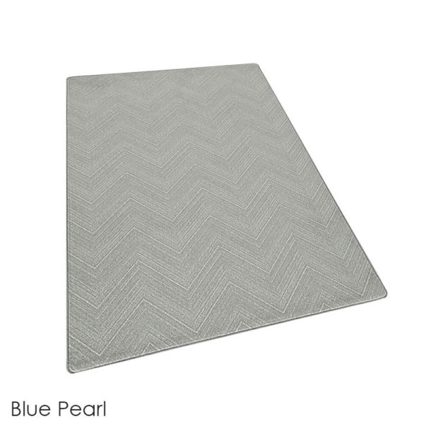 Milliken Dreamroom Chevron Pattern Indoor Area Rug Collection Blue Pearl