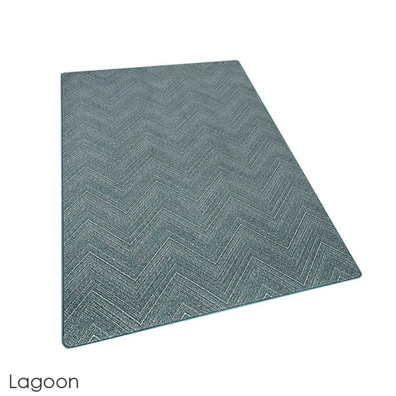 Milliken Dreamroom Chevron Pattern Indoor Area Rug Collection Lagoon